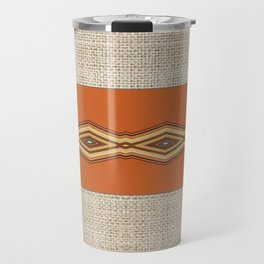 Southwestern Earth Tone Texture Design Travel Mug