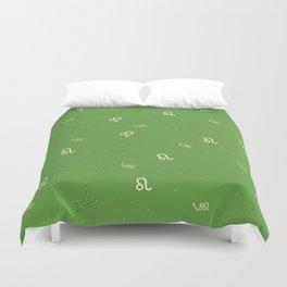 Leo Pattern - Green Duvet Cover