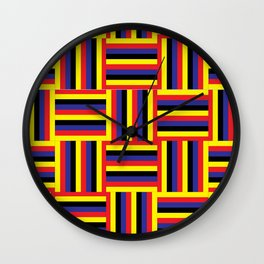 Lines everywhere #3 Wall Clock