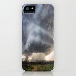 Attitude - Massive Storm Rumbles Over Plains of Texas Panhandle iPhone Case