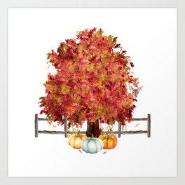Woodland Autumn Art Print