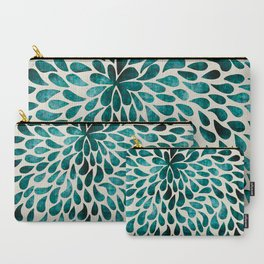 teal abstract swirl drops Carry-All Pouch