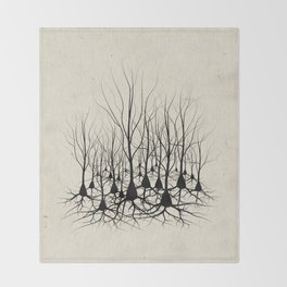 Pyramidal Neuron Forest Throw Blanket