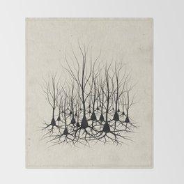 Pyramidal Neuron Forest Throw Blanket
