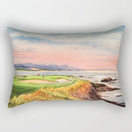 Pebble Beach Golf Course 7th Hole Rectangular Pillow