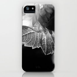 flower close up - black/white - ninteen iPhone Case