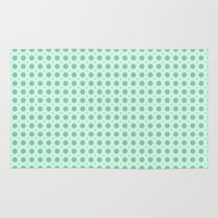 polka dots Area & Throw Rugs featuring Polka Dots by Pink Berry Patterns