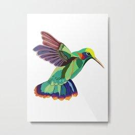 Humming(bird) Everywhere Metal Print