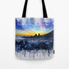 Ocean Sunset Painting Tote Bag