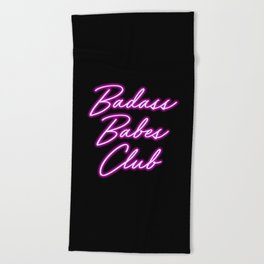 Badass Babes Club Beach Towel