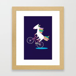 bike unicorn  Framed Art Print