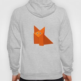 Geometric Cute Origami Fox Portrait Hoody