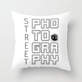 Love for Street Photography Throw Pillow