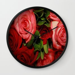 Forever Love - Roses Wall Clock
