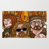 big lebowski Area & Throw Rugs featuring The Big Lebowski by David Amblard