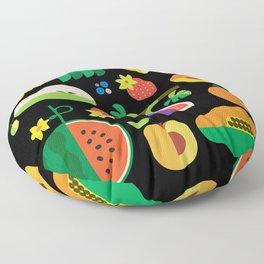 Fruit Medley Black Floor Pillow