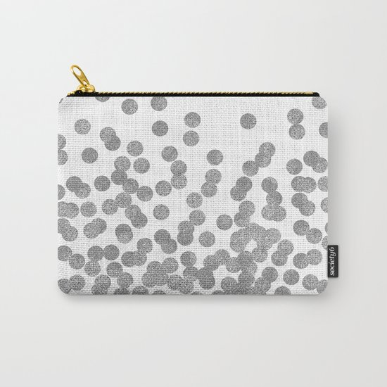 Silver Glitter Drops in bold and cute modern minimal colors for trendy gifts and glitter phone case Carry-All Pouch