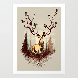 A Rustic Hat Rack Art Print