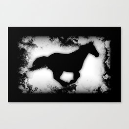 Western-look Galloping Horse Silhouette Canvas Print