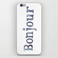 bonjour iPhone & iPod Skins featuring Bonjour by Bridget Davidson