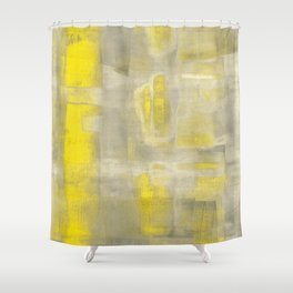 Stasis Gray & Gold 2 Shower Curtain