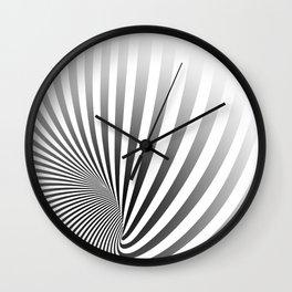 Illusion lines - Zebra Wall Clock