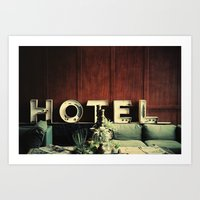 neutral milk hotel Art Prints featuring Hotel by Around & Around
