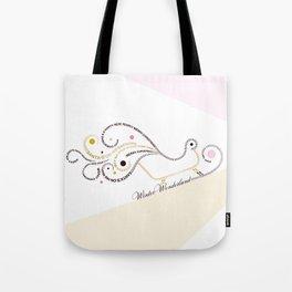 Typographic Christmas Sleigh Tote Bag