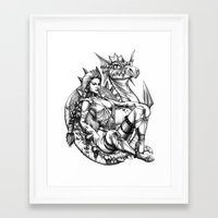 beauty and the beast Framed Art Prints featuring Beauty and the beast by misscrocodile63/drawings/photo/paintings
