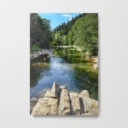 Blue whirlpools reserve Metal Print