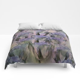 Glamorous Lavender Roses Abstract Comforters