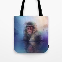 Macaque (Low Poly Multi I Snow Monkey) Tote Bag