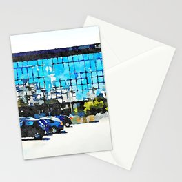 Pescara: parking and glass building of the railway station Stationery Cards