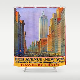 Vintage poster - Fifth Avenue Shower Curtain