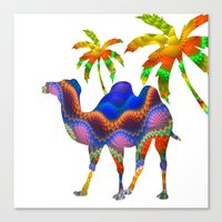 camel Canvas Prints featuring Camel by haroulita