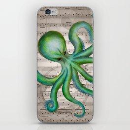 Green Octopus iPhone Skin