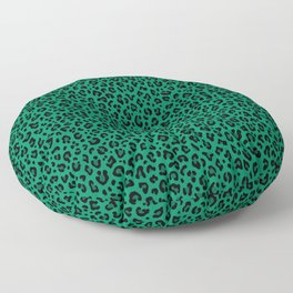 LEOPARD PRINT in GREEN | Collection : Leopard spots – Punk Rock Animal Print Floor Pillow