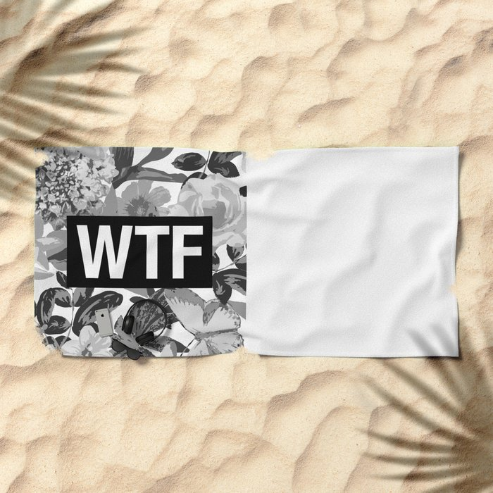 WTF Beach Towel