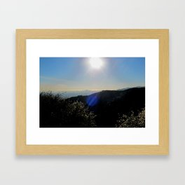 Los Angeles view from Runyon Canyon Framed Art Print