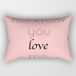 Gossip Girl: You know you love me - tvshow Rectangular Pillow