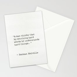 Herman Melville quote 9 Stationery Cards