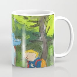 kid ant cute monster in the forest Coffee Mug