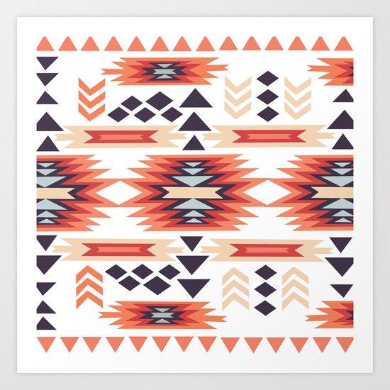 American Native Pattern No. 28 Art Print