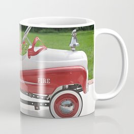 Generic Childs Metal Pedal Car Firetruck Car Coffee Mug