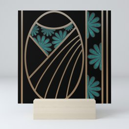 ART DECO FLOWERS (abstract) Mini Art Print