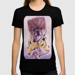Pomeranian Wearing Pajamas T-shirt