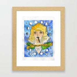 Pearly Sweetcake Framed Art Print