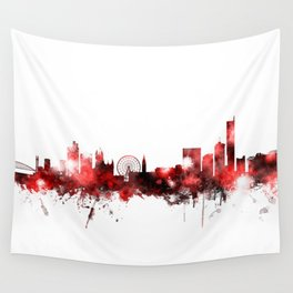 Manchester England Skyline Wall Tapestry