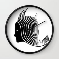 capricorn Wall Clocks featuring Capricorn by Rebelot