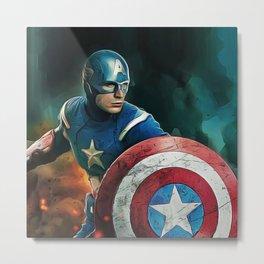 Chris Evans - Celebrity - Oil Paint Art Metal Print